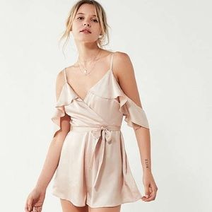 Light Pink Satin Urban Outfitters Romper